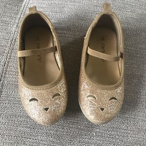 Carter's Gold sparkly shoes